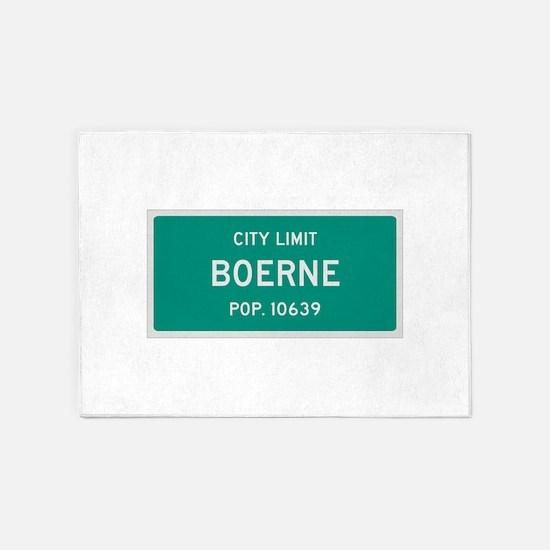 Boerne, Texas City Limits 5'x7'Area Rug