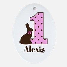 Babys First Easter Custom name Ornament (Oval)