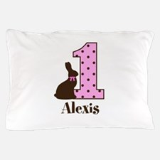 Babys First Easter Custom name Pillow Case
