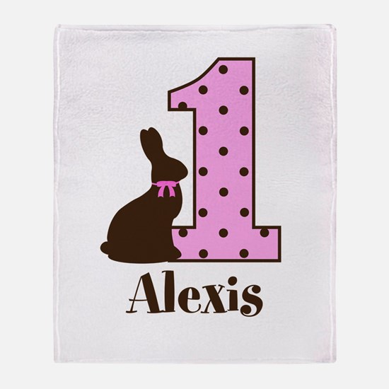 Babys First Easter Custom name Throw Blanket