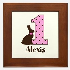 Babys First Easter Custom name Framed Tile