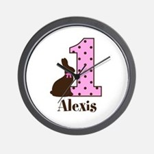 Babys First Easter Custom name Wall Clock