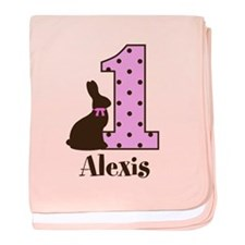 Babys First Easter Custom name baby blanket