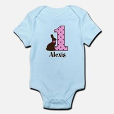 Babys First Easter Custom name Body Suit
