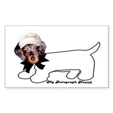 Bride Autograph Hound Rectangle Decal
