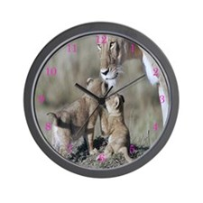 Lion Mothers Pride Wall Clock