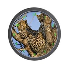 Leopard Cubs Wall Clock
