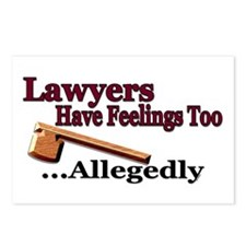 Lawyers Have Feelings Postcards (Package of 8)