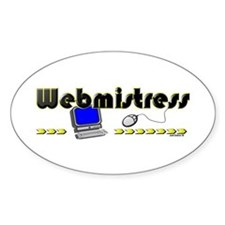 Webmistress Oval Decal