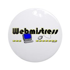 Webmistress Ornament (Round)