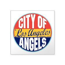 "Los Angeles Vintage Label 3"" Lapel Sticker (4"
