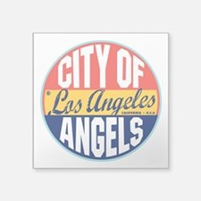 "Los Angeles Vintage Label 3"" Lapel Sticker (4"