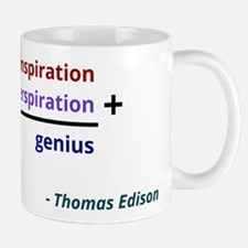 Genius is 1% inspiration and 99% perspiration Mug