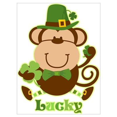 Lucky Irish Monkey Wall Art Canvas Art