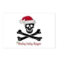 Holly Jolly Roger (C) Postcards (Package of 8)
