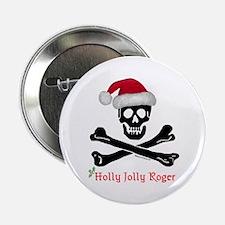 Holly Jolly Roger (C) Button