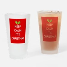 KEEP CALM IT'S CHRISTMAS Drinking Glass