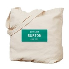 Burton, Texas City Limits Tote Bag