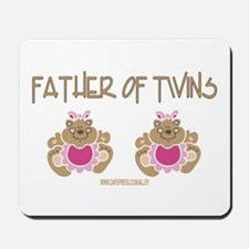 FATHER OF TWINS (2 Girls) Mousepad