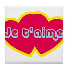 Je t'aime ove You) Tile Coaster