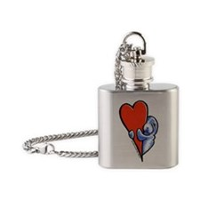 Love Manatees Flask Necklace