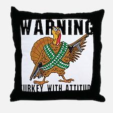Funny Turkey Throw Pillow