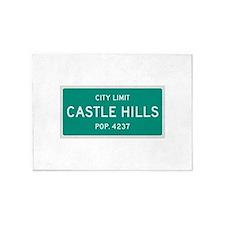 Castle Hills, Texas City Limits 5'x7'Area Rug