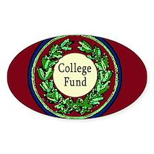 College Fund Tip Jar Oval Decal