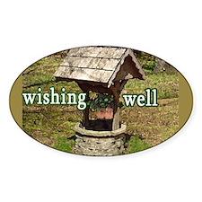 Wishing Well Tip Jar Oval Decal