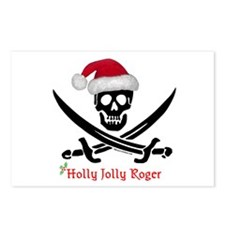 Holly Jolly Roger (S) Postcards (Package of 8)