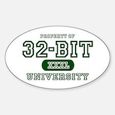 32-Bit University Oval Decal