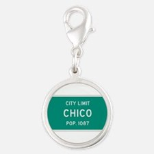 Chico, Texas City Limits Silver Round Charm