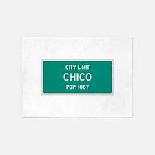 Chico, Texas City Limits 5'x7'Area Rug