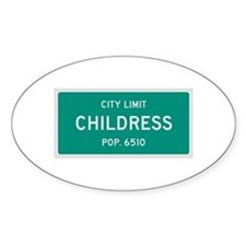 Childress, Texas City Limits Decal