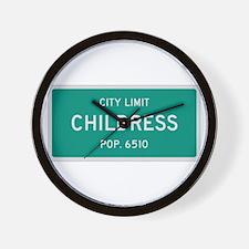 Childress, Texas City Limits Wall Clock