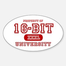 16-Bit University Oval Decal
