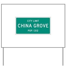 China Grove, Texas City Limits Yard Sign
