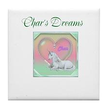 Char's Dreams Tile Coaster