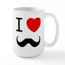I Heart Mustache Mug