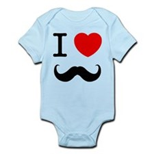 I Heart Mustache Infant Bodysuit
