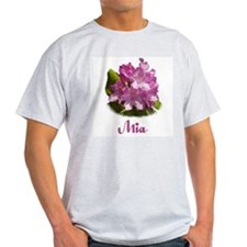 Abby: Purple Flower Ash Grey T-Shirt