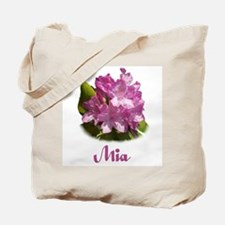 Abby: Purple Flower Tote Bag