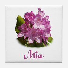 Abby: Purple Flower Tile Coaster