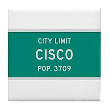 Cisco, Texas City Limits Tile Coaster
