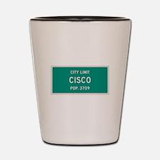 Cisco, Texas City Limits Shot Glass