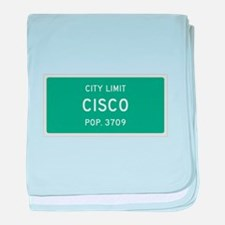 Cisco, Texas City Limits baby blanket