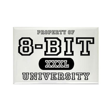 8-Bit University Rectangle Magnet (10 pack)