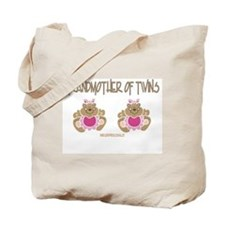 Grabdmother Of Twins (2 Girls) Tote Bag