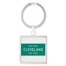 Cleveland, Texas City Limits Square Keychain