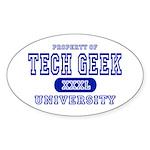 Tech Geek University Oval Sticker